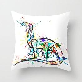 Splat the Sauropod  Throw Pillow