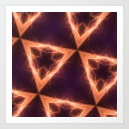 fractal triangle glows Art Print