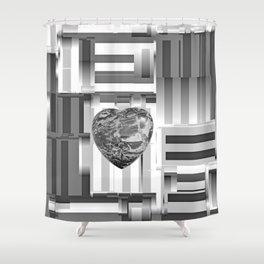 Jasper Heart in Vacancy Shower Curtain