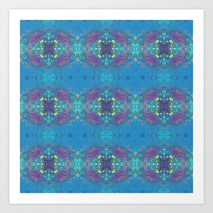Blue and violet ocean impression Art Print