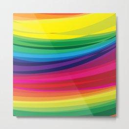 Bright Multicolored Rainbow Arcs Metal Print