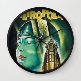 Vintage 1926 'Metropolis' Lobby Card Movie Film Poster by Fritz Lang Wall Clock