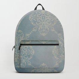 Vintage Damask - Faded Indigo Blue Backpack