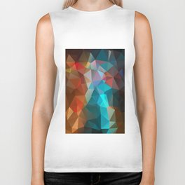 Abstract bright background of triangles polygon print illustration Biker Tank