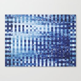 Nautical pixel abstract pattern Canvas Print