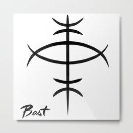Bast Metal Print