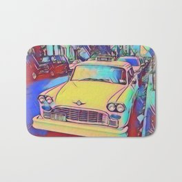 Retro Classic Car Bath Mat