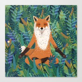 Fox Yoga Canvas Print