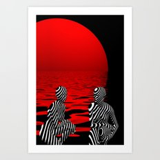 talking Art Print
