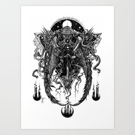 The Bornless One (Black and White)  Art Print