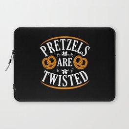 Pretzels are Twisted Happy Pretzels Day Laptop Sleeve