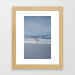 Alone at the Top Framed Art Print