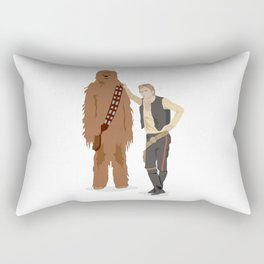 Han Solo and Chewbacca Rectangular Pillow