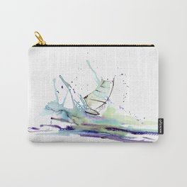 Windurfer - Surfart in watercolor - Surf Decor Carry-All Pouch