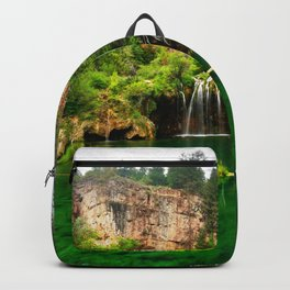 Picture USA Hanging Lake Cliff Nature Waterfalls Trees Crag Rock Backpack