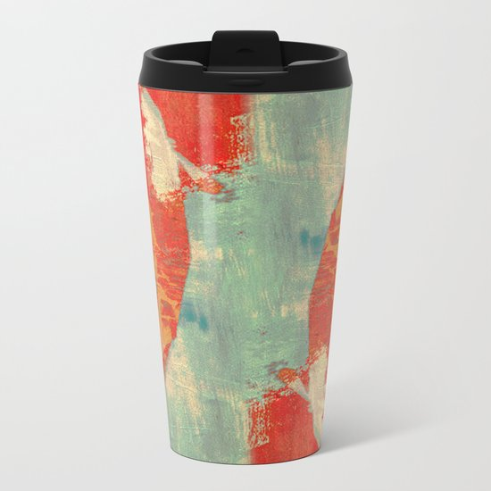 穏やかな海で泳ぐ (Swimming in Calm Waters) Metal Travel Mug