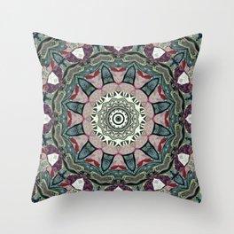 Dug Up Mandala 1 Throw Pillow