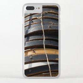 Mast hoops on Sailing Schooner Clear iPhone Case