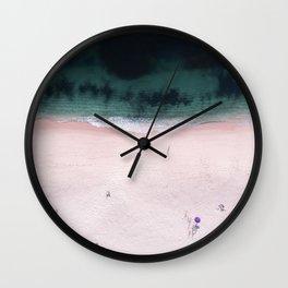 The purple umbrella Wall Clock