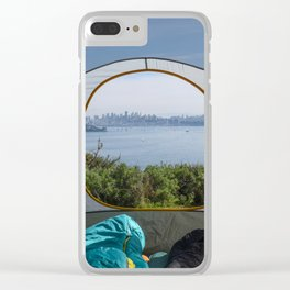 Downtown San Francisco from the tent Clear iPhone Case