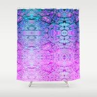 wizard Shower Curtains featuring Melted Wizard by Peta Herbert