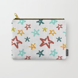 Colorful grunge stars Carry-All Pouch
