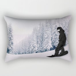 Snowboarding Rectangular Pillow