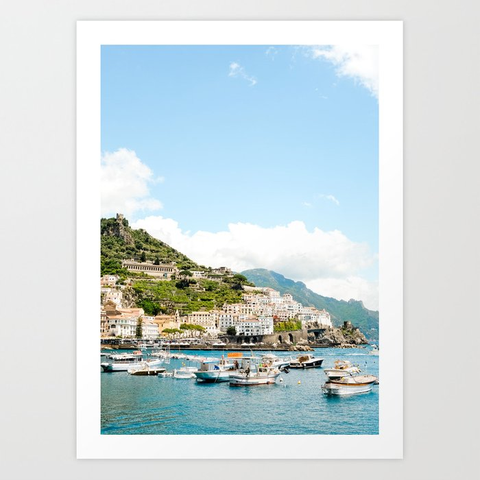 Amalfi Harbor Art Print