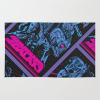 guardians of the galaxy Area & Throw Rugs featuring Guardians of the Galaxy NEON by Messypandas
