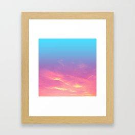 Pink Golden Skies Framed Art Print
