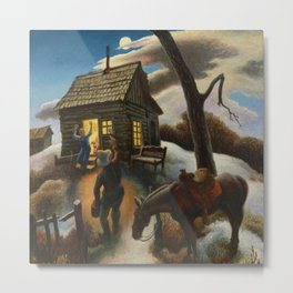 Little Brown Jug, A heartland homecoming by Thomas Hart Benson Metal Print