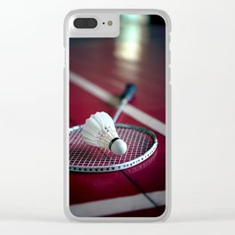 Lets' play badminton! Clear iPhone Case