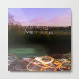 Brussels's City Lights Metal Print
