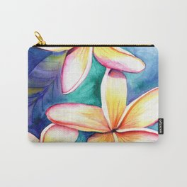 Blooming Plumeria 5 Carry-All Pouch
