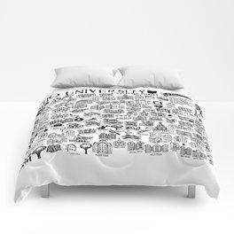 Ohio University Map Comforters
