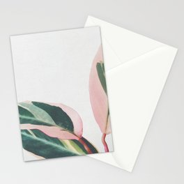 Pink Leaves II Stationery Cards
