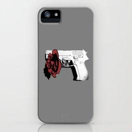 Hate kills love iPhone Case