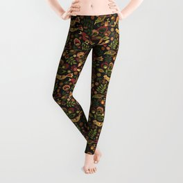 Folk Birds Leggings