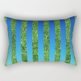 Grass & Sky Stripes Rectangular Pillow