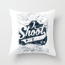 Street Photographer Throw Pillow