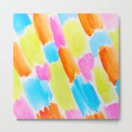 Brushstrokes - candy clouds pattern Metal Print