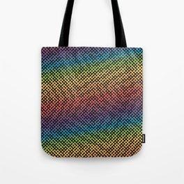 Dot Dot Rainbow Black Tote Bag
