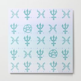 Pastel Pisces Metal Print