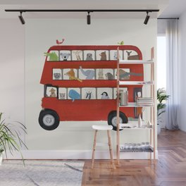 the big little red bus Wall Mural