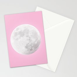 WHITE MOON + PINK SKY Stationery Cards