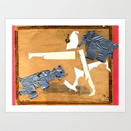 Attacked by Bear Cub Cadets Art Print