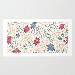 Tropical Opulence Pattern Art Print