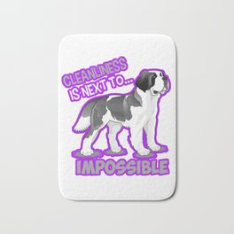 (tshirt) Cleanliness Is Close To Impossible (stroke) Bath Mat