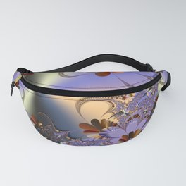 Metallic Shine with Fractals Fanny Pack