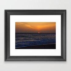 Beach Sunset Framed Art Print